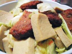 こうや豆腐と白菜の煮物