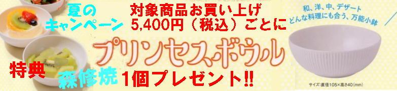 森修焼 2018夏のキャンペーン